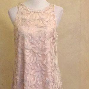 Belle Badgely Mischka Shift Dress Pink 6 EUC
